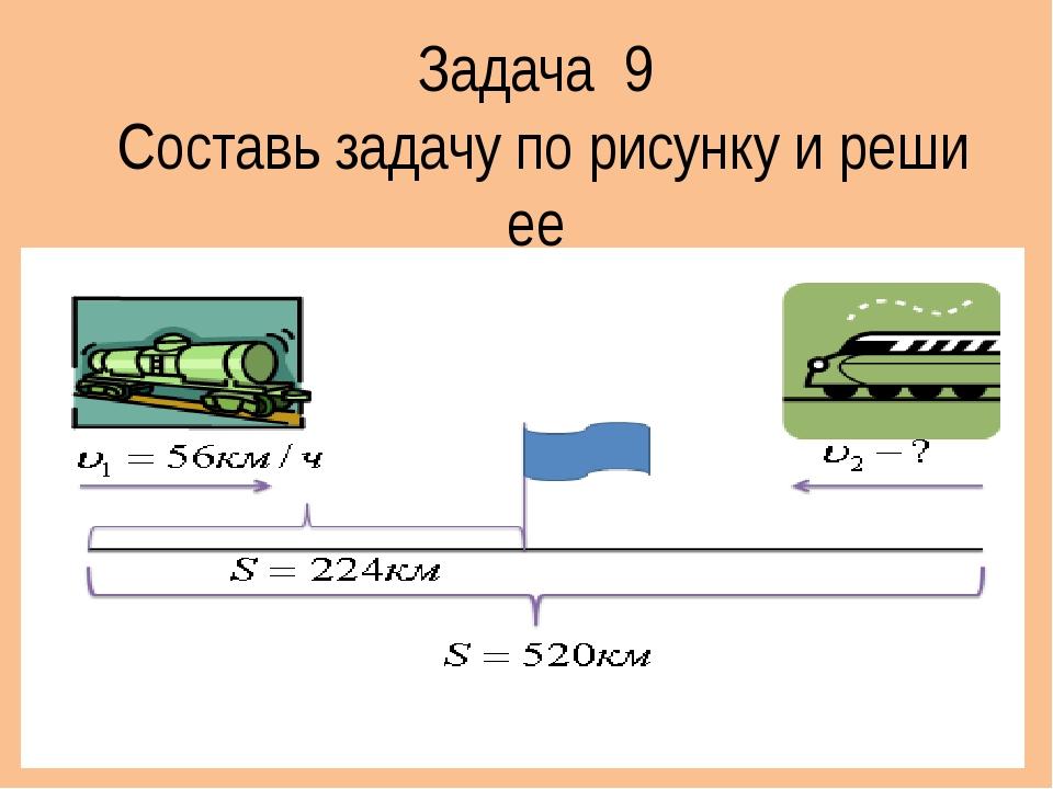 Задача 9 Составь задачу по рисунку и реши ее