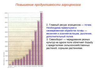 Повышение продуктивности агроценозов 2. Главный ресурс агроценоза — почва. Не