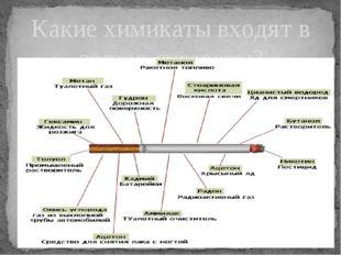 Какие химикаты входят в состав сигареты?