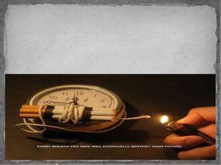 «Курильщик впускает в свои уста врага, который похищает мозг» (английская на