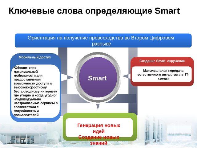 Ключевые слова определяющие Smart