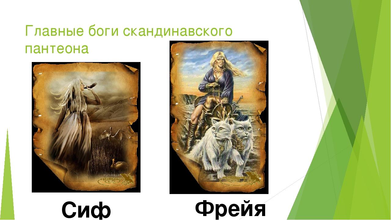 Главные боги скандинавского пантеона Сиф Фрейя