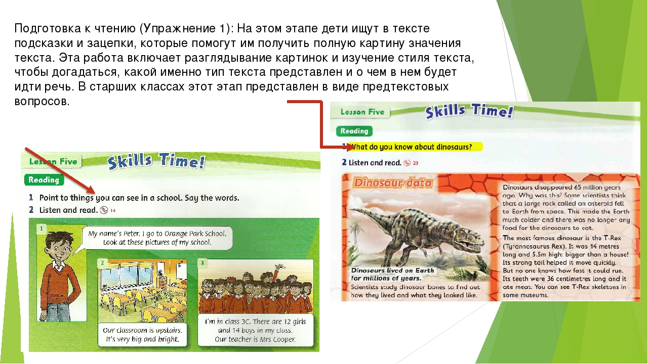 Подготовка к чтению (Упражнение 1): На этом этапе дети ищут в тексте подсказк...