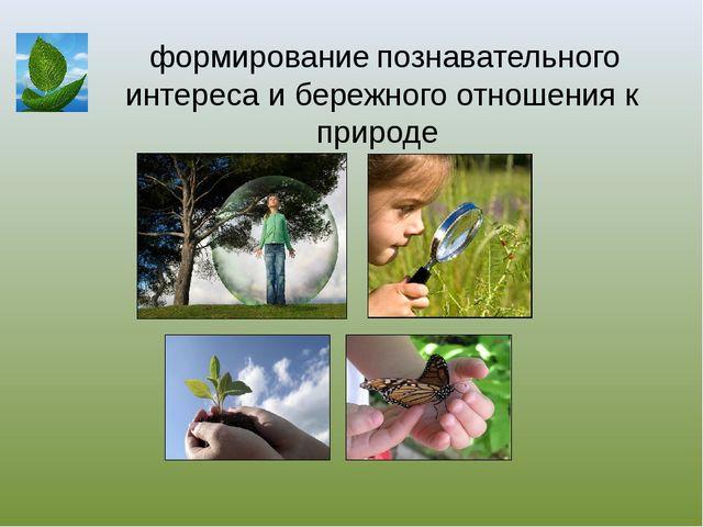 формирование познавательного интереса и бережного отношения к природе