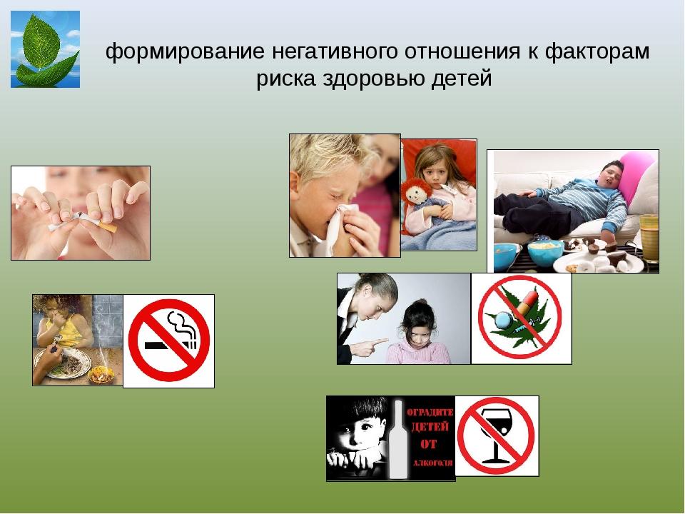 формирование негативного отношения к факторам риска здоровью детей