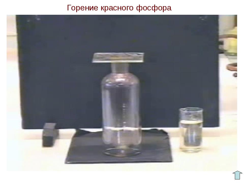 Горение красного фосфора