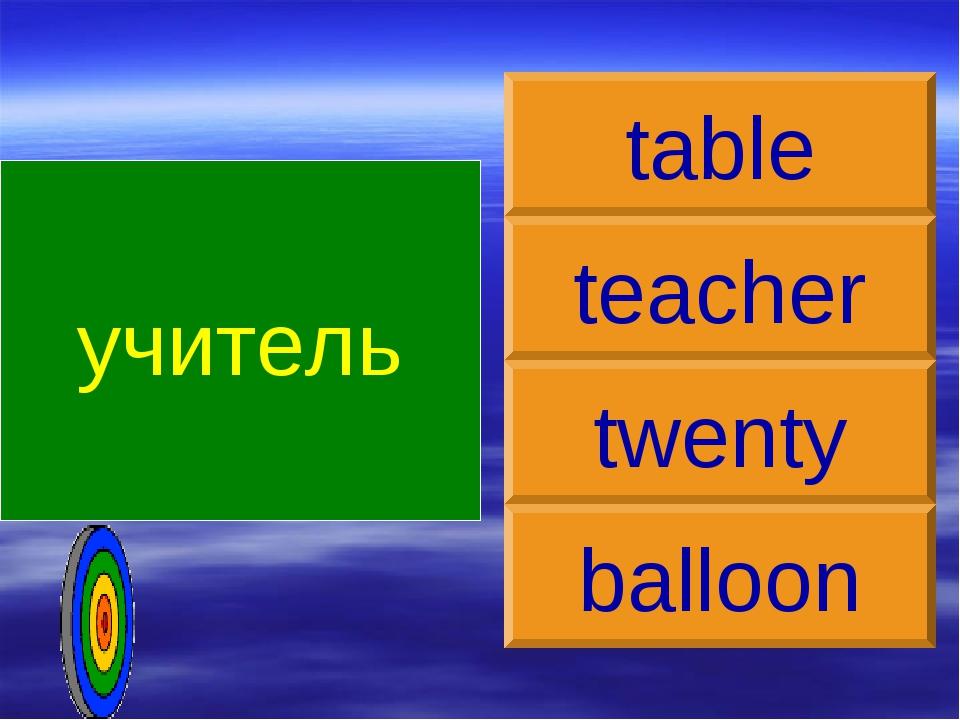 учитель teacher table twenty balloon