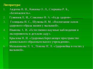 Литература: Авдеева Н. Н., Князева О. Л., Стеркина Р. Б., «Безопасность». Гум