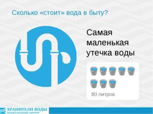 Самая маленькая утечка воды Сколько «стоит» вода в быту?
