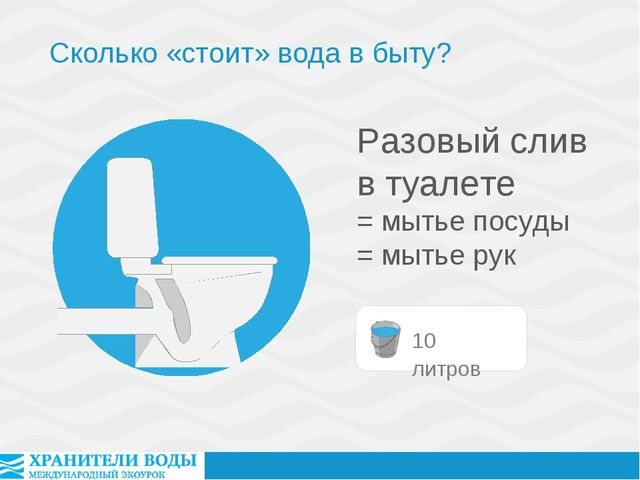 Разовый слив в туалете = мытье посуды = мытье рук Сколько «стоит» вода в быту?