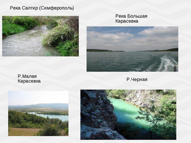 Река Салгир (Симферополь) Река Большая Карасевка Р.Малая Карасевка Р.Черная