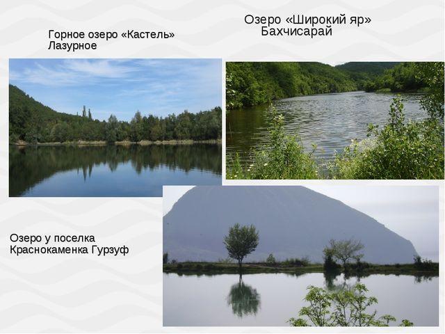 Озеро «Широкий яр» Бахчисарай Горное озеро «Кастель» Лазурное Озеро у поселка...