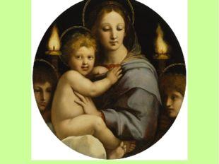 Мадонна с канделябрами Датирована 1513-1514 годами. На картине изображены Дев