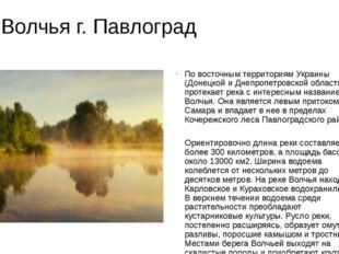 р. Волчья г. Павлоград По восточным территориям Украины (Донецкой и Днепропет