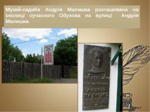 Музей-садиба Андрія Малишка розташована на околиці сучасного Обухова на вули