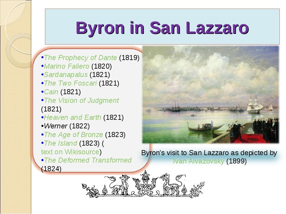 Byron in San Lazzaro