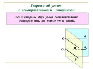 Теорема об углах с сонаправленными сторонами Если стороны двух углов соответс