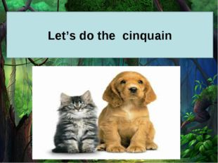Let's do the cinquain