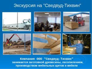 """Компания ООО """"Сведвуд-Тихвин"""" занимается заготовкой древесины, лесопилением,"""