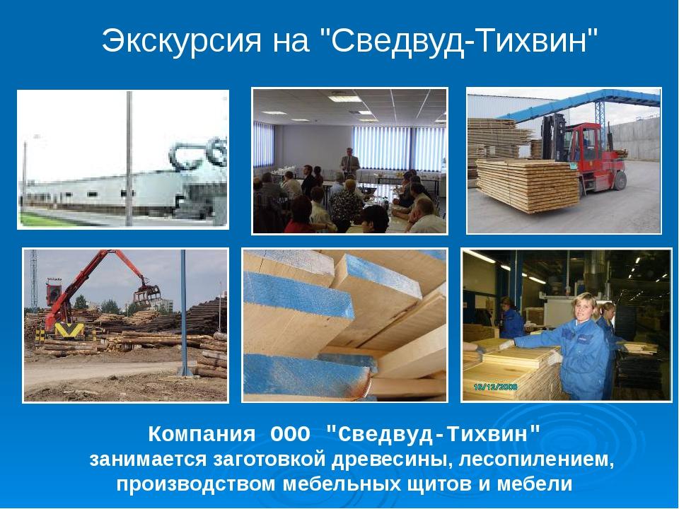 """Компания ООО """"Сведвуд-Тихвин"""" занимается заготовкой древесины, лесопилением,..."""