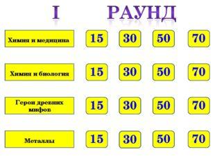 70 50 30 15 70 50 30 15 70 50 30 15 70 50 30 15 Химия и медицина Химия и биол
