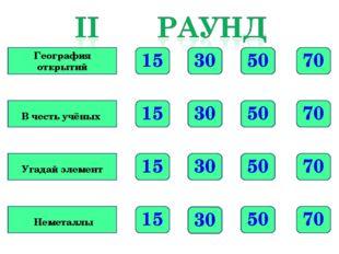70 50 30 15 70 50 30 15 70 50 30 15 70 50 30 15 География открытий В честь уч