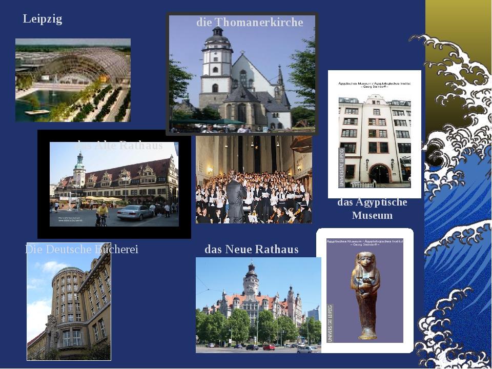 das Alte Rathaus Leipzig die Thomanerkirche das Ägyptische Museum das Neue Ra...