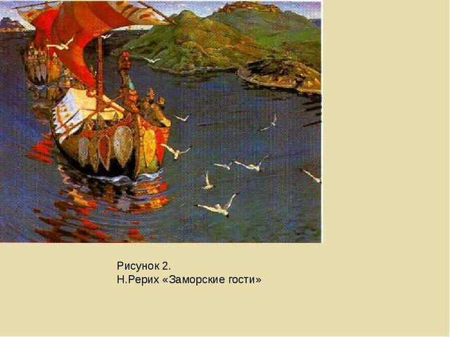 Рисунок 2. Н.Рерих «Заморские гости»