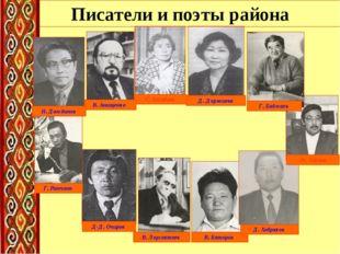Писатели и поэты района Д. Доржиева С. Ангабаев В. Анищенко Д-Д. Очиров В. Ло