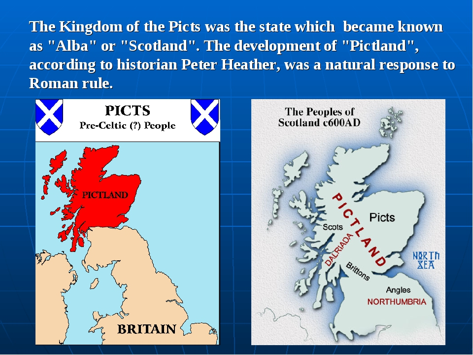 "The Kingdom of the Picts was the state which became known as ""Alba"" or ""Scotl..."