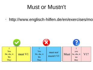 Must or Mustn't http://www.englisch-hilfen.de/en/exercises/modals/must_not.htm
