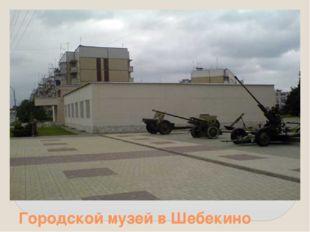 Городской музей в Шебекино
