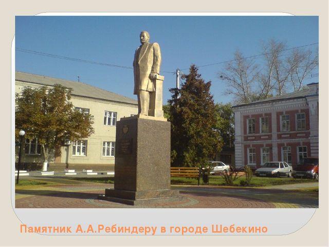 Памятник А.А.Ребиндеру в городе Шебекино