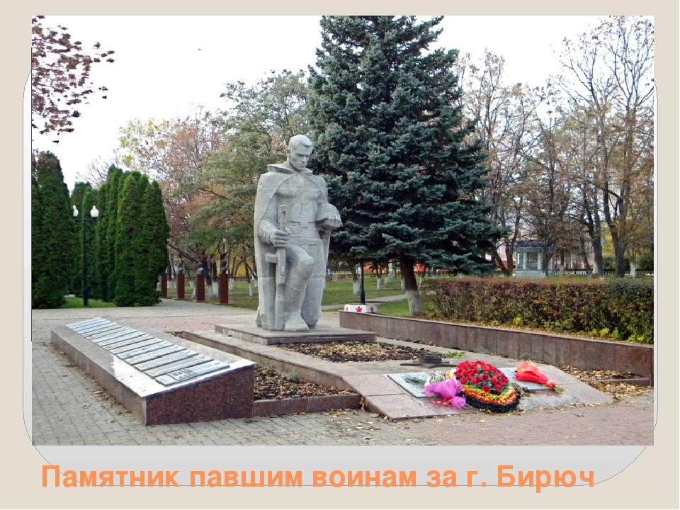 Памятник павшим воинам за г. Бирюч