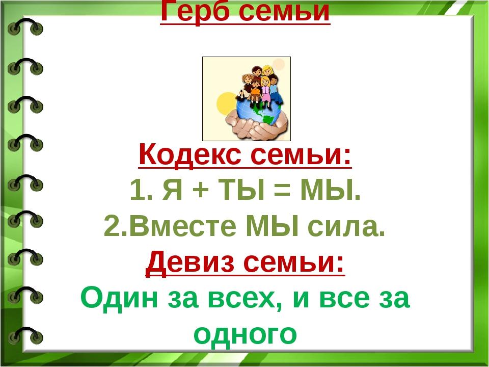 Картинки девиз для семьи