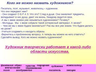 """МОУ №5 """"Гимназия"""", С.В. Коровянская, 2011 г. Кого же можно назвать художником"""