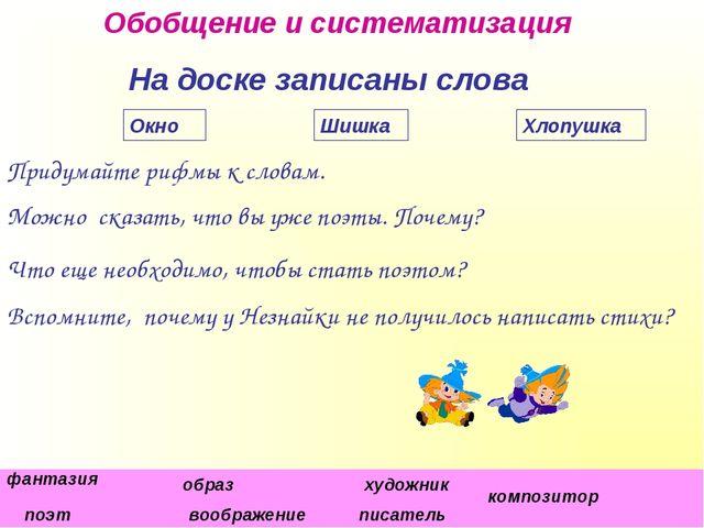 """МОУ №5 """"Гимназия"""", С.В. Коровянская, 2011 г. На доске записаны слова Придумай..."""