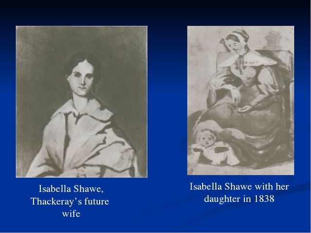 Isabella Shawe, Thackeray's future wife Isabella Shawe with her daughter in 1...
