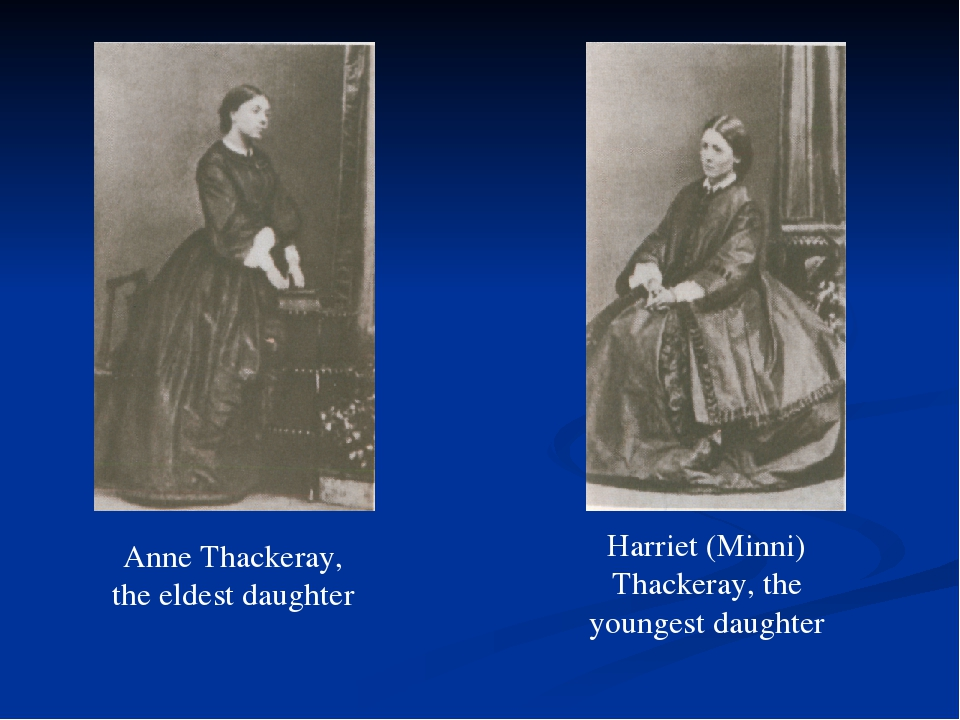 Anne Thackeray, the eldest daughter Harriet (Minni) Thackeray, the youngest d...
