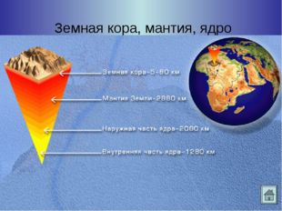Земная кора, мантия, ядро