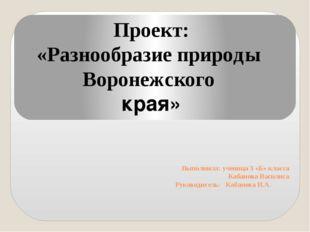 Выполнила: ученица 3 «Б» класса Кабанова Василиса Руководитель: Кабанова И.А.