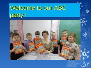 Welcome to our ABC party !