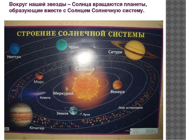 Вокруг нашей звезды – Солнца вращаются планеты, образующие вместе с Солнцем С...
