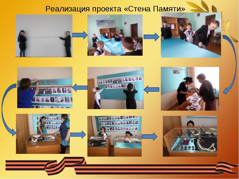 Реализация проекта «Стена Памяти»