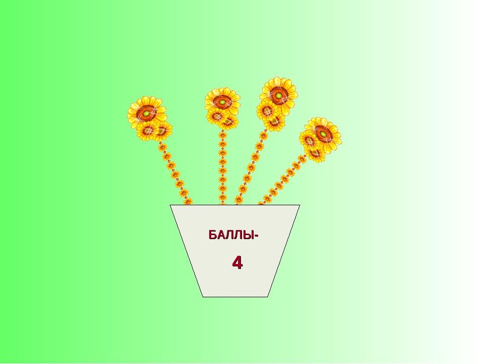БАЛЛЫ- 4