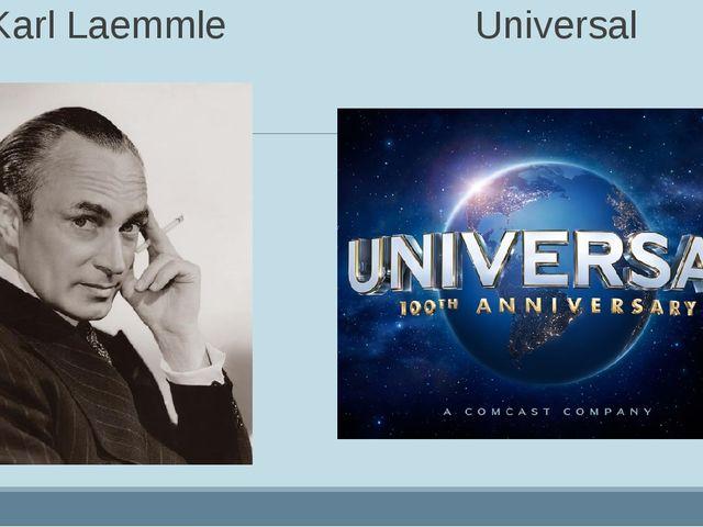 Karl Laemmle Universal