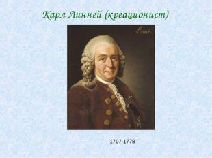 Карл Линней (креационист) 1707-1778