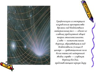 Графическая иллюстрация искривления пространства-времени под воздействием мат
