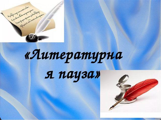 «Литературная пауза»
