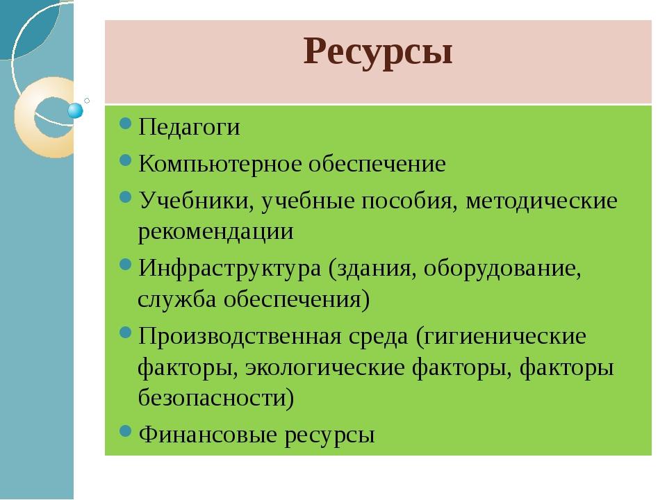 Ресурсы Педагоги Компьютерное обеспечение Учебники, учебные пособия, методиче...
